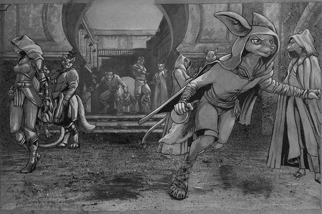 Thief! (Black and White Version)