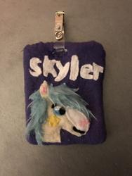 Skyler the Pony Fleece Fursona Badge