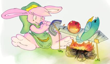 Bunny Link campfire