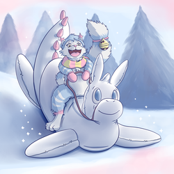 Mewey Christmas on a Snow Drake