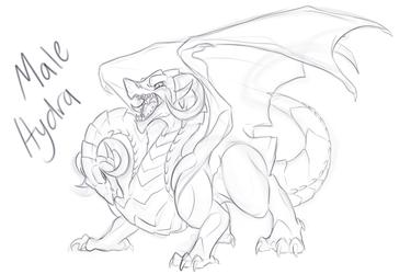 Hydra Dragon - Male Sketch