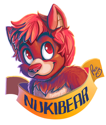 Nukibear badge