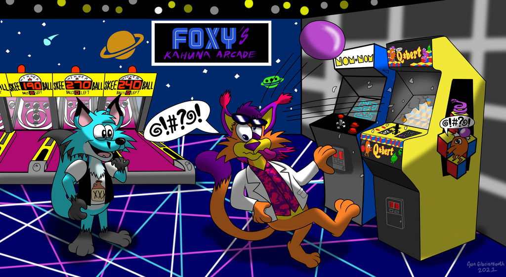 Foxy's Amusement At His Amusement Facility