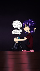 Hiding in remorse (color ver)