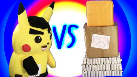 "Mascot Pikachu Fursuiting: Ace Spade Vs. ""The Castle of Cardboard Clutter"""
