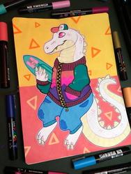 Tales from my Sketchbook - Skater! Alligator