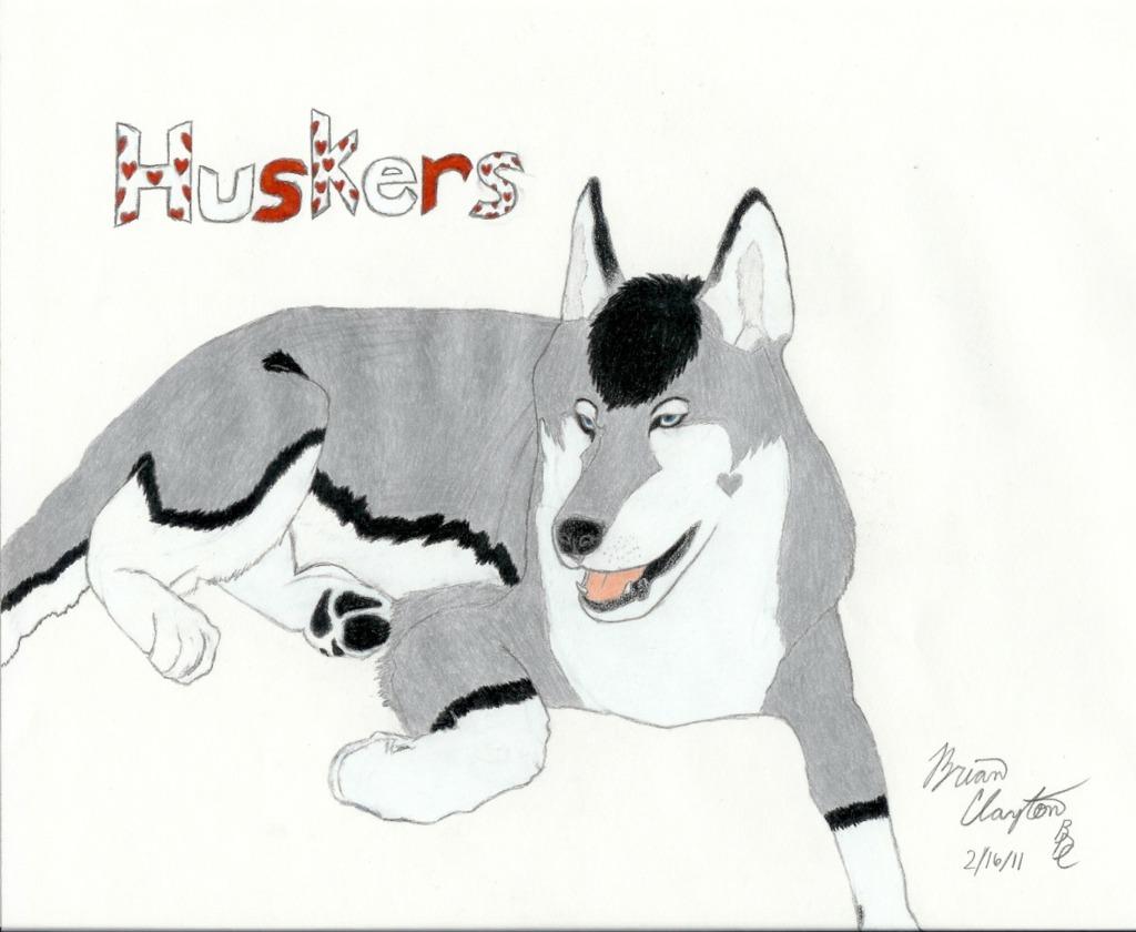 Huskers Gift Art