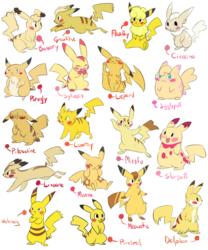 Pikachu variations part 2