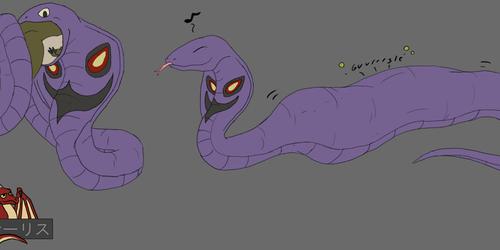 Next comes a big snake-burp