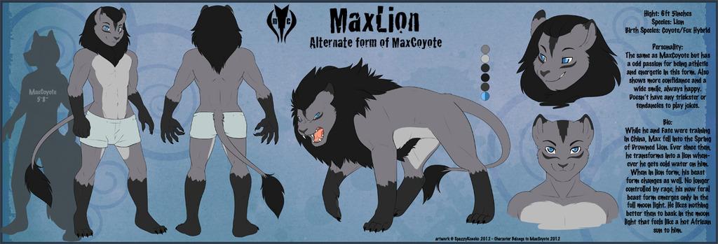 MaxLion CHARACTER REFERENCE Sheet [Final Version]