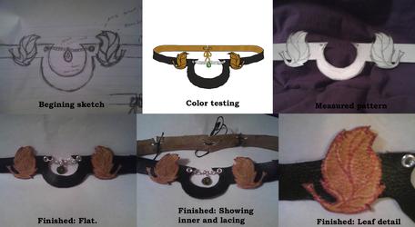 Leather circlet