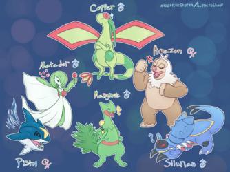 Samaru's Hoenn Team - Commission