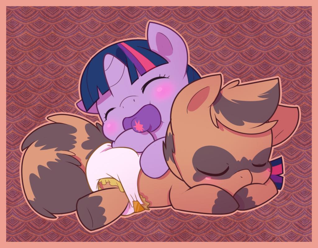 CuddleHooves Commission - Sleeping Happy