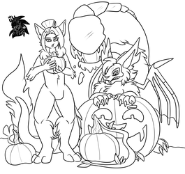 Pumpkin Picking +Commission WIP+