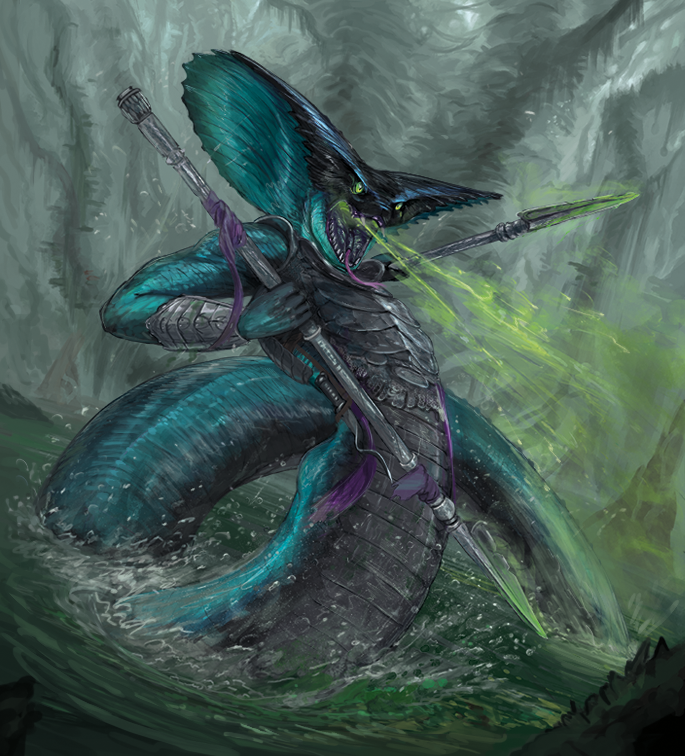 Venomous serpent (card illustration for Glimpse of Luna TCG)