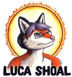 Luca Shoal Mixed Media Badge