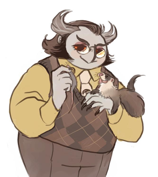 berguv and a friend