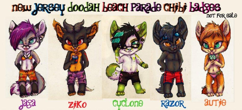 ::NJ Doodah Parade Chibis::