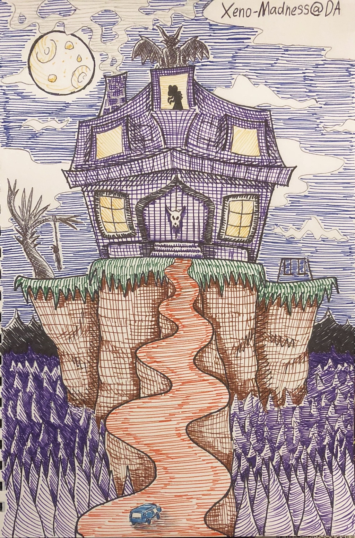 Inktober 4: Haunted House