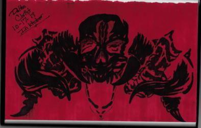 Devil Daggers (Inktober 2018, Piece 17)