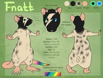 Fnatt reference sheet by Swanbear