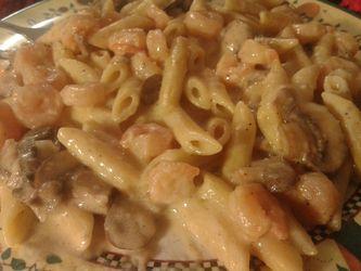 Shrimp Alfredo Penne