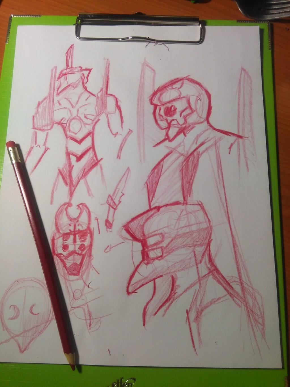 Most recent image: Evangelion doodles