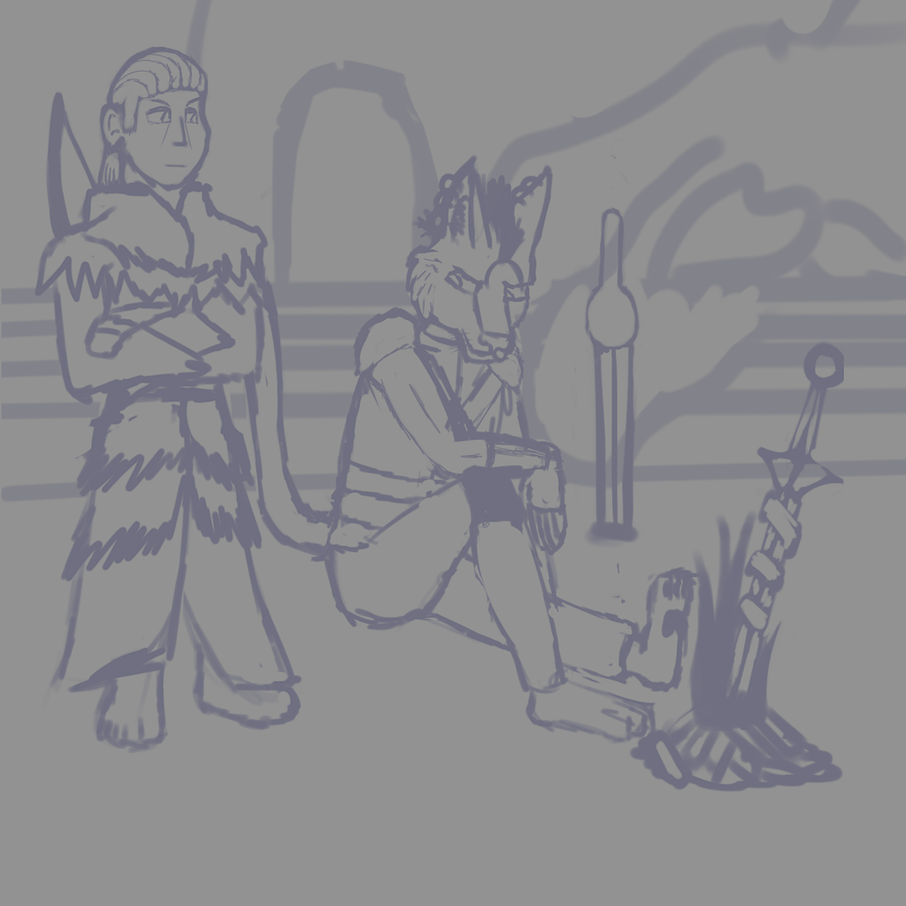 Ly'ro and Donovan (Sketch)