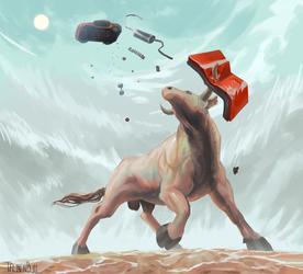 bull v machine