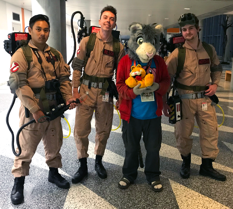 Peter meets the Ghostbusters (Fanime'19)