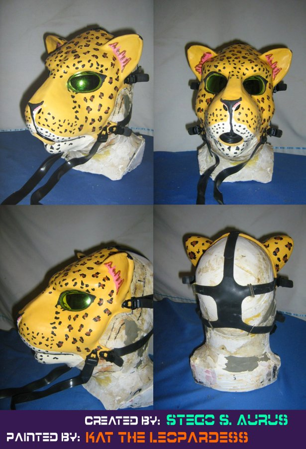 Painted Gas Mask: Leopard