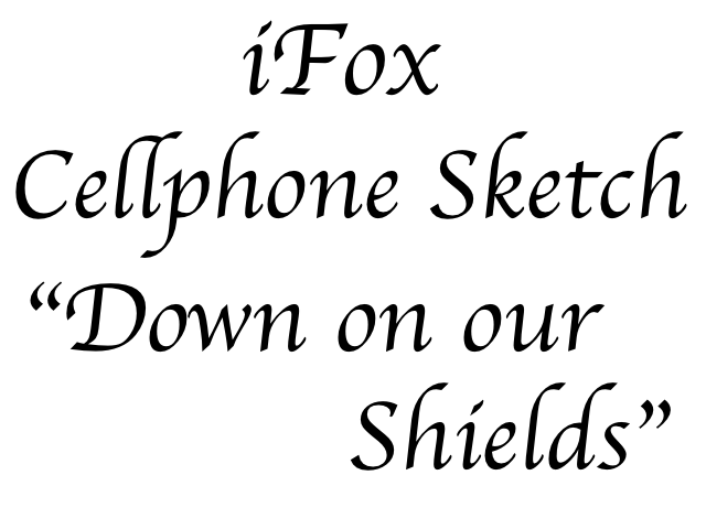 """Sketch """"Down on Our Own Shields"""" Jacob Dylan Cover"""