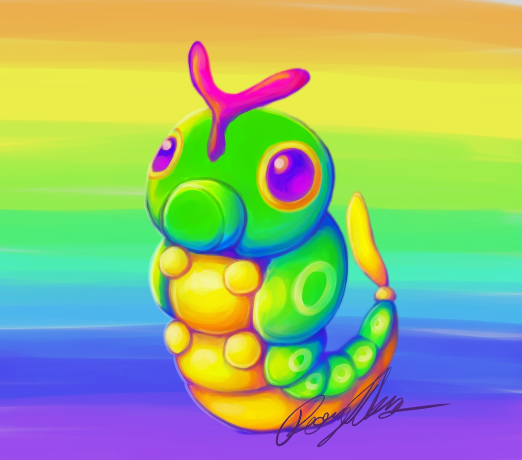 Trainer Lisa Frank wants to battle : Caterpie