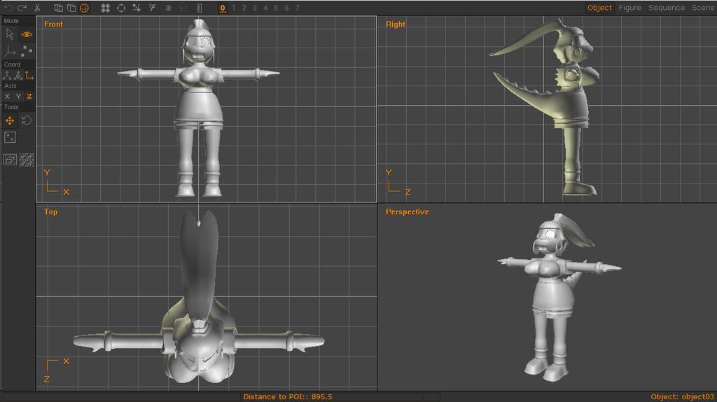 Anim8or 1.0 - Ibuki Crocenda Base Model Complete.