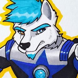 Heyoka Uchu Sentai Kyuranger Blue Ranger Badge