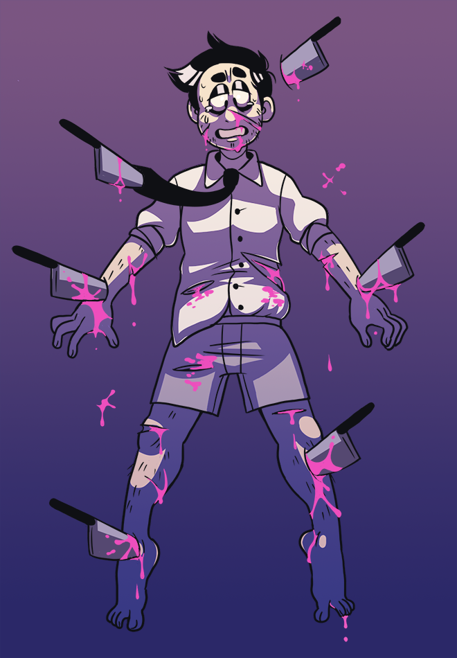 [Gore] Knife Play