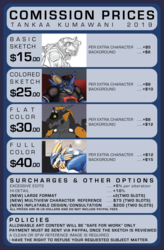 2019 Commission Price Sheet