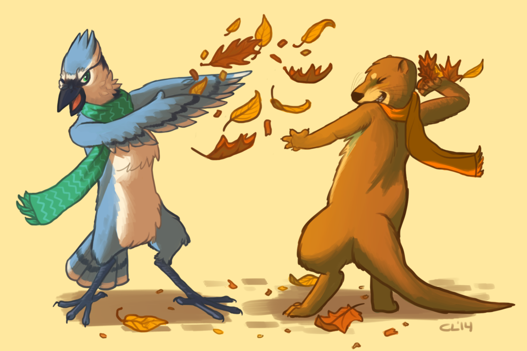 eskies and masanbol, fall edition - by badjer (Coyote Luck)