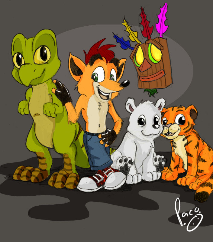 Crash and friends