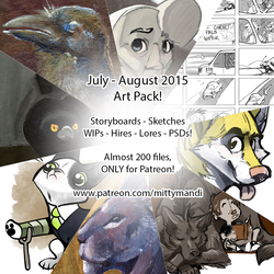 July and August 2015 Art Pack is UP!
