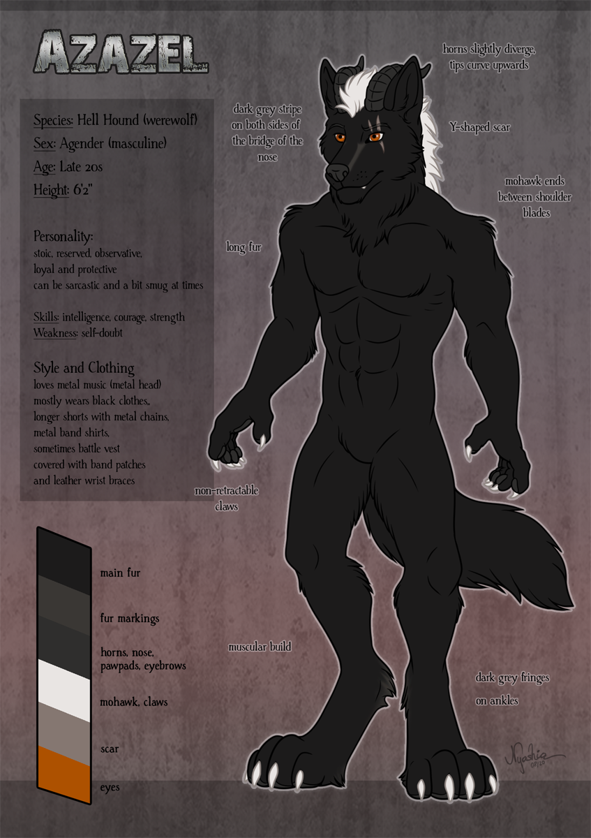 Most recent image: Azazel Ref Sheet