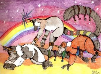 [Fantasy Lemurs] Rainbow unicorns squad