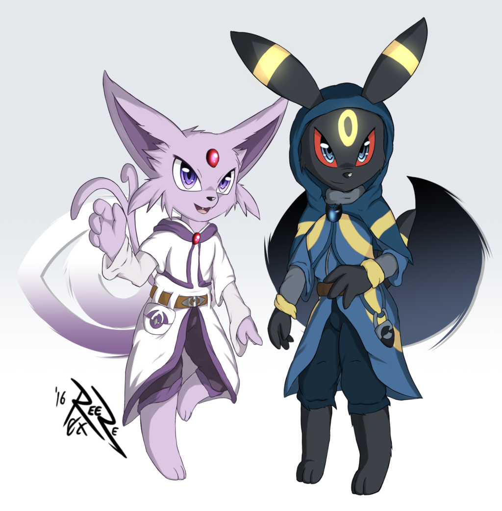 Espeon and Umbreon mages