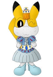 Andy the Pikachu's Wedding Dress