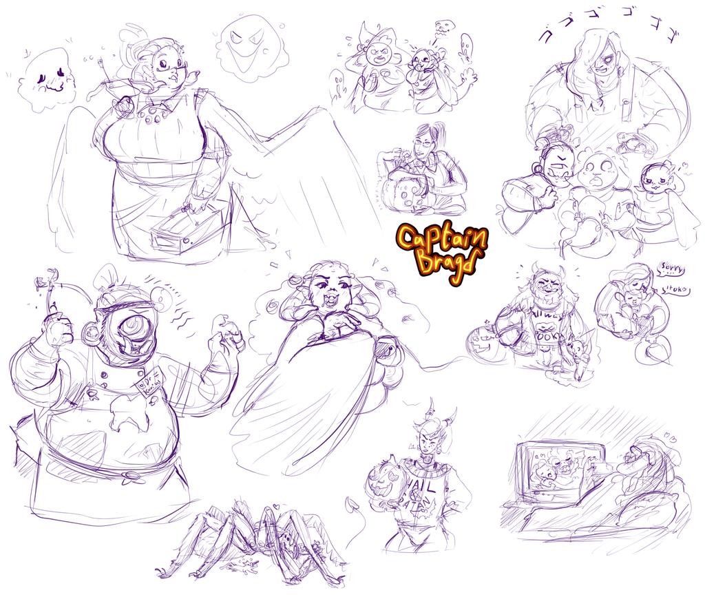 Sketchpage Commission ~ Monster Mash