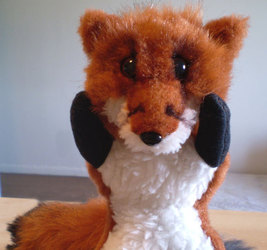 Commission: Fox cub plushies Ricco and Cloudy