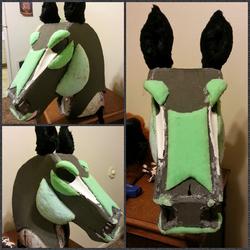 Equine Quadsuit head WIP