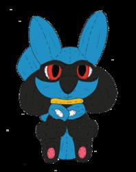 Andy the Pikachu's Riolu Costume