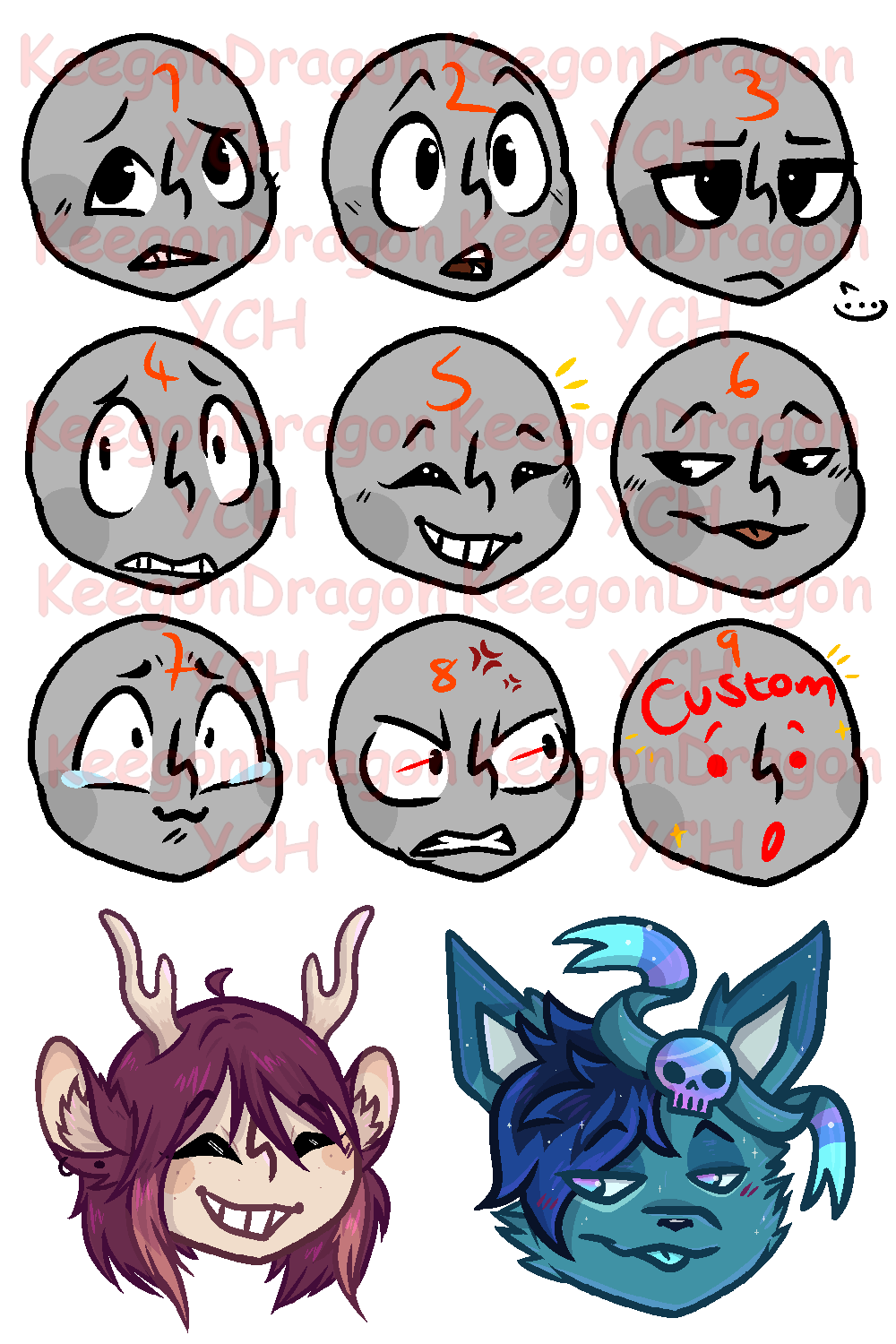 Icon/Emote Expressions YCH (OPEN)