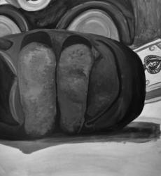 Acrylic Still Life--A Baby's Shoe